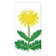 Sunflower Floral Flower Yellow Green Galaxy Note 4 Back Case