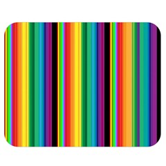 Multi Colored Colorful Bright Stripes Wallpaper Pattern Background Double Sided Flano Blanket (Medium)
