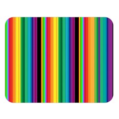 Multi Colored Colorful Bright Stripes Wallpaper Pattern Background Double Sided Flano Blanket (large)