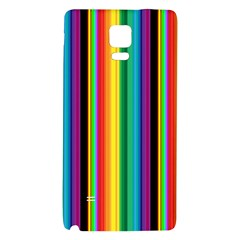 Multi Colored Colorful Bright Stripes Wallpaper Pattern Background Galaxy Note 4 Back Case