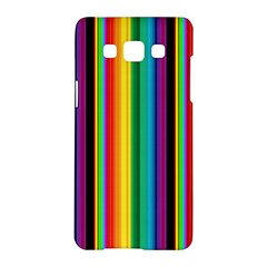 Multi Colored Colorful Bright Stripes Wallpaper Pattern Background Samsung Galaxy A5 Hardshell Case