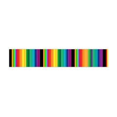 Multi Colored Colorful Bright Stripes Wallpaper Pattern Background Flano Scarf (Mini)