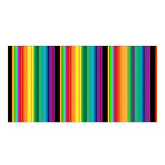 Multi Colored Colorful Bright Stripes Wallpaper Pattern Background Satin Shawl