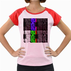 Repeated Tapestry Pattern Women s Cap Sleeve T-Shirt