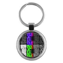 Repeated Tapestry Pattern Key Chains (Round)