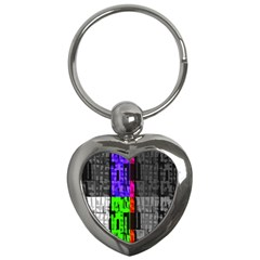 Repeated Tapestry Pattern Key Chains (heart)