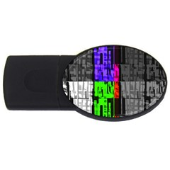 Repeated Tapestry Pattern USB Flash Drive Oval (2 GB)