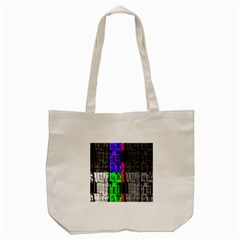 Repeated Tapestry Pattern Tote Bag (Cream)