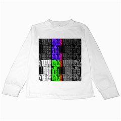 Repeated Tapestry Pattern Kids Long Sleeve T Shirts