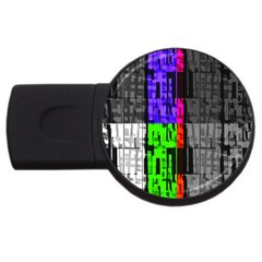 Repeated Tapestry Pattern USB Flash Drive Round (4 GB)