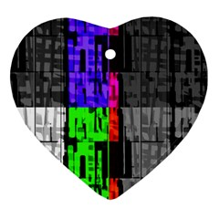 Repeated Tapestry Pattern Heart Ornament (two Sides)