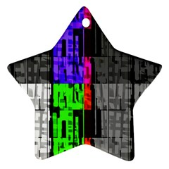 Repeated Tapestry Pattern Star Ornament (Two Sides)