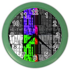 Repeated Tapestry Pattern Color Wall Clocks
