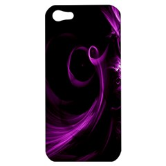 Purple Flower Floral Apple iPhone 5 Hardshell Case