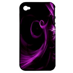 Purple Flower Floral Apple iPhone 4/4S Hardshell Case (PC+Silicone)