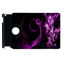 Purple Flower Floral Apple iPad 2 Flip 360 Case