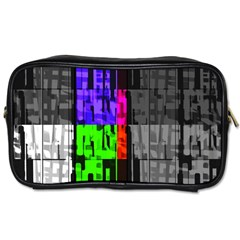 Repeated Tapestry Pattern Toiletries Bags