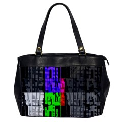 Repeated Tapestry Pattern Office Handbags