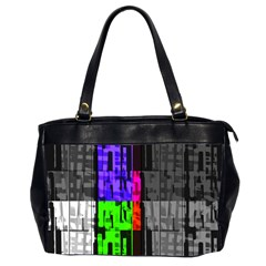 Repeated Tapestry Pattern Office Handbags (2 Sides)