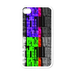 Repeated Tapestry Pattern Apple iPhone 4 Case (White)
