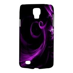 Purple Flower Floral Galaxy S4 Active