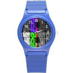 Repeated Tapestry Pattern Round Plastic Sport Watch (S)