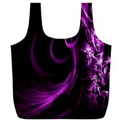 Purple Flower Floral Full Print Recycle Bags (L)