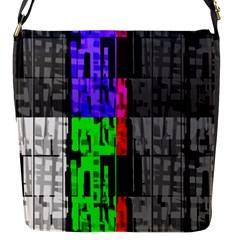 Repeated Tapestry Pattern Flap Messenger Bag (s)
