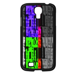 Repeated Tapestry Pattern Samsung Galaxy S4 I9500/ I9505 Case (Black)