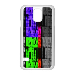 Repeated Tapestry Pattern Samsung Galaxy S5 Case (White)