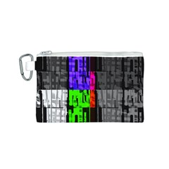 Repeated Tapestry Pattern Canvas Cosmetic Bag (S)