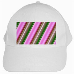 Pink And Green Abstract Pattern Background White Cap