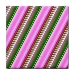 Pink And Green Abstract Pattern Background Tile Coasters