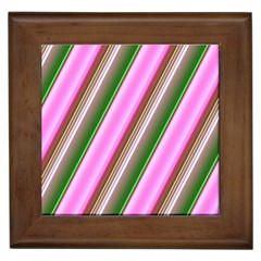 Pink And Green Abstract Pattern Background Framed Tiles