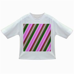 Pink And Green Abstract Pattern Background Infant/Toddler T-Shirts