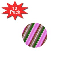 Pink And Green Abstract Pattern Background 1  Mini Buttons (10 Pack)