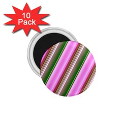 Pink And Green Abstract Pattern Background 1 75  Magnets (10 Pack)