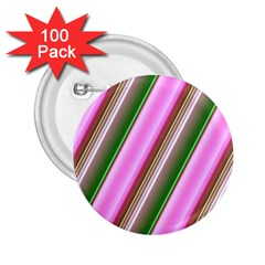 Pink And Green Abstract Pattern Background 2.25  Buttons (100 pack)