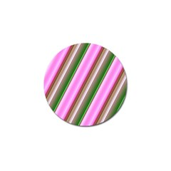 Pink And Green Abstract Pattern Background Golf Ball Marker (10 pack)