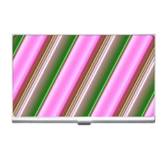 Pink And Green Abstract Pattern Background Business Card Holders