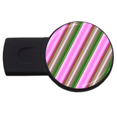 Pink And Green Abstract Pattern Background USB Flash Drive Round (2 GB)