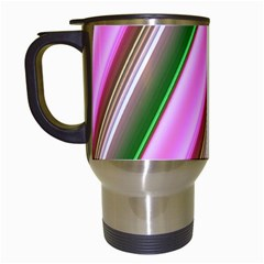 Pink And Green Abstract Pattern Background Travel Mugs (white)