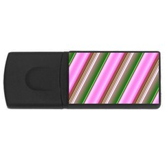 Pink And Green Abstract Pattern Background Usb Flash Drive Rectangular (4 Gb)