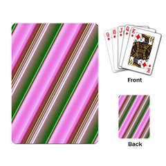 Pink And Green Abstract Pattern Background Playing Card