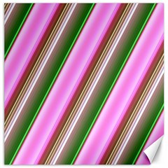 Pink And Green Abstract Pattern Background Canvas 12  x 12