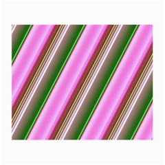 Pink And Green Abstract Pattern Background Small Glasses Cloth (2-Side)