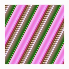 Pink And Green Abstract Pattern Background Medium Glasses Cloth (2-Side)
