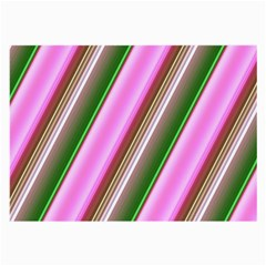 Pink And Green Abstract Pattern Background Large Glasses Cloth (2-Side)