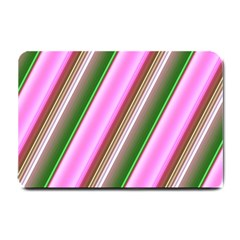 Pink And Green Abstract Pattern Background Small Doormat