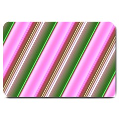 Pink And Green Abstract Pattern Background Large Doormat